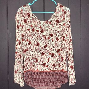 Ladies long sleeve Medium Floral Top